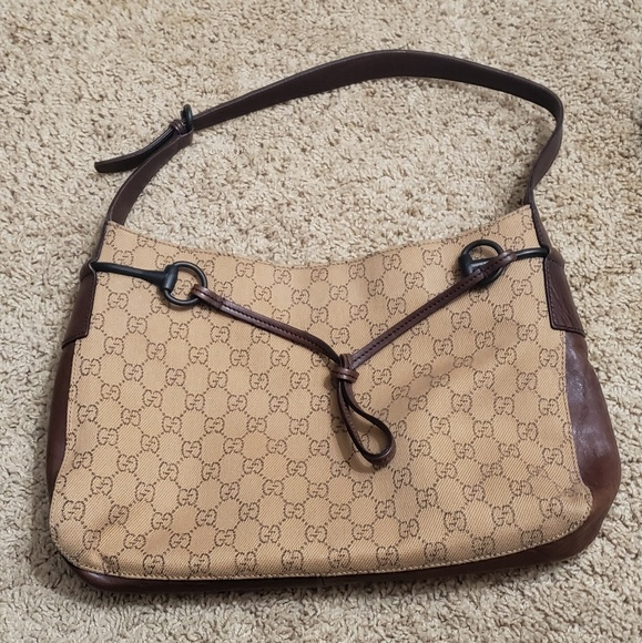 86a370bc817680 Gucci Bags | Horsebit Shoulder Bag Gg Canvas | Poshmark